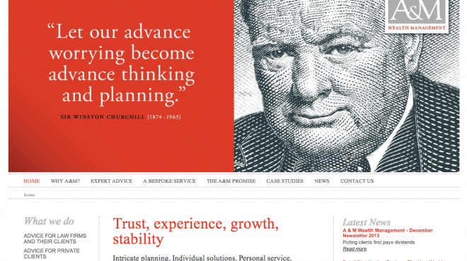 A&M Wealth Management Website