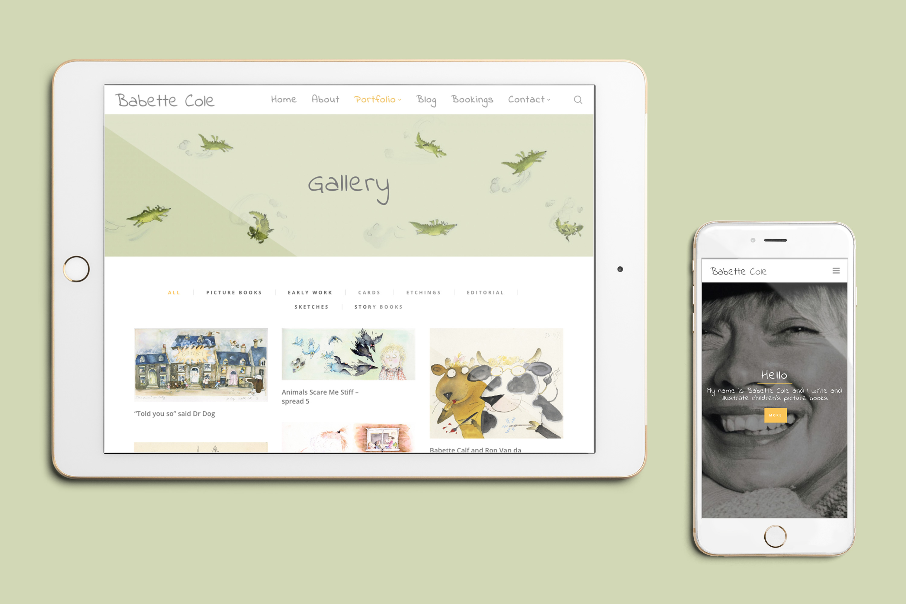 Babette Cole Responsive Website