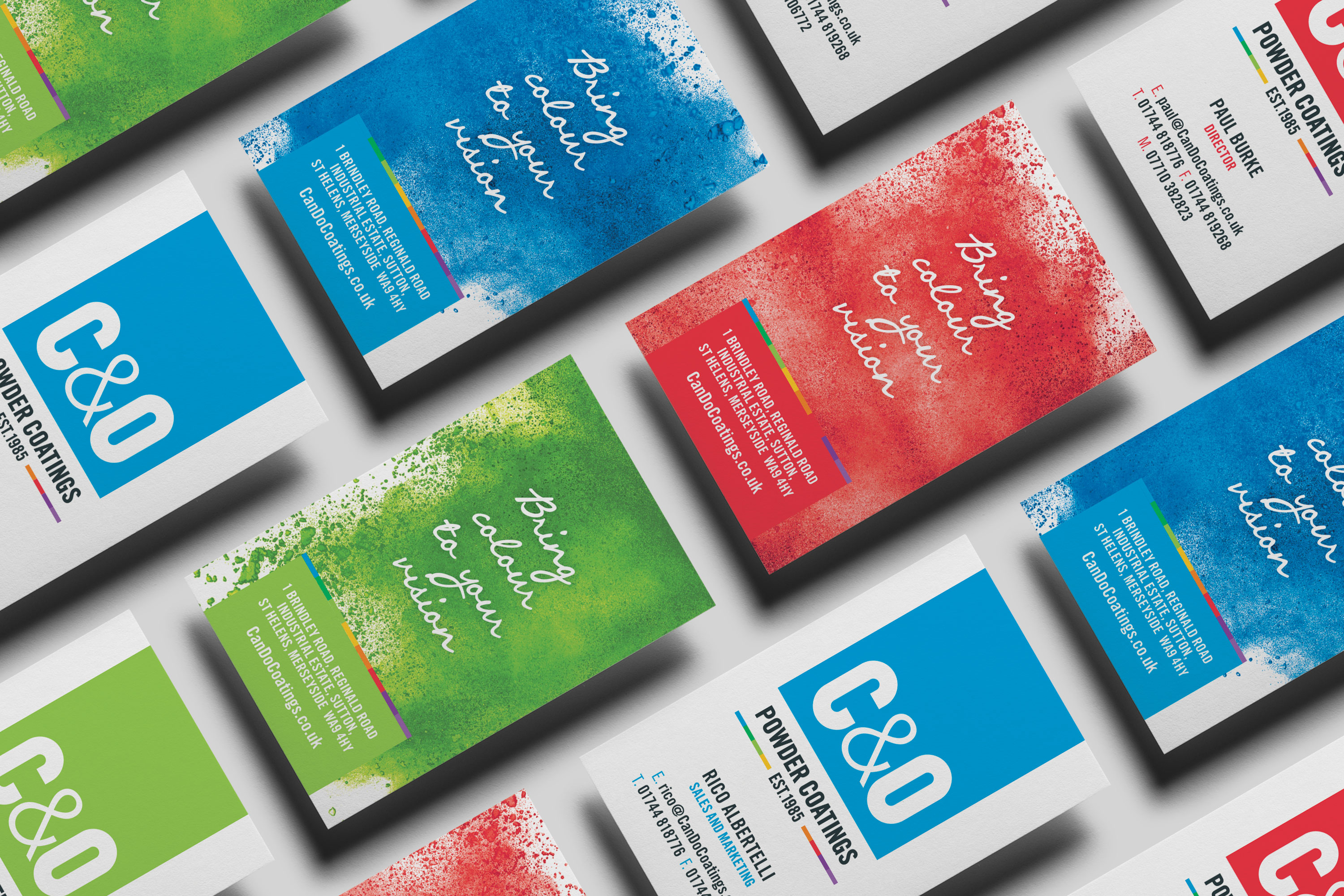 C&O Powder Coatings Business Cards