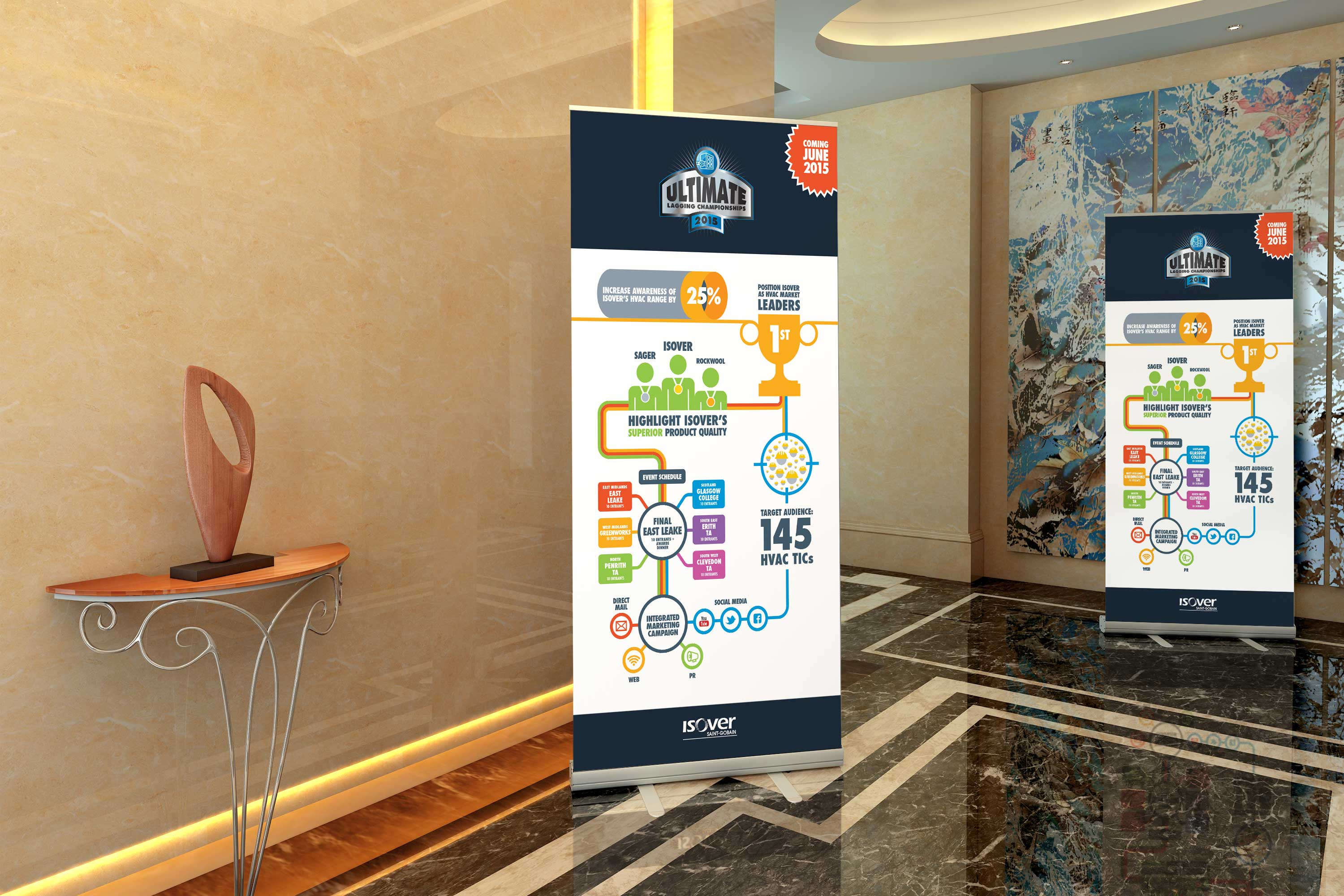 Isover Saint-Gobain Roller Banners
