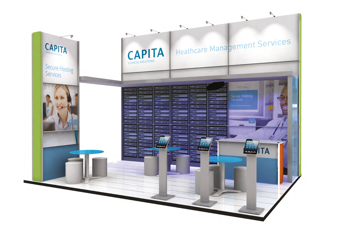 Capita Exhibition Stand Front View