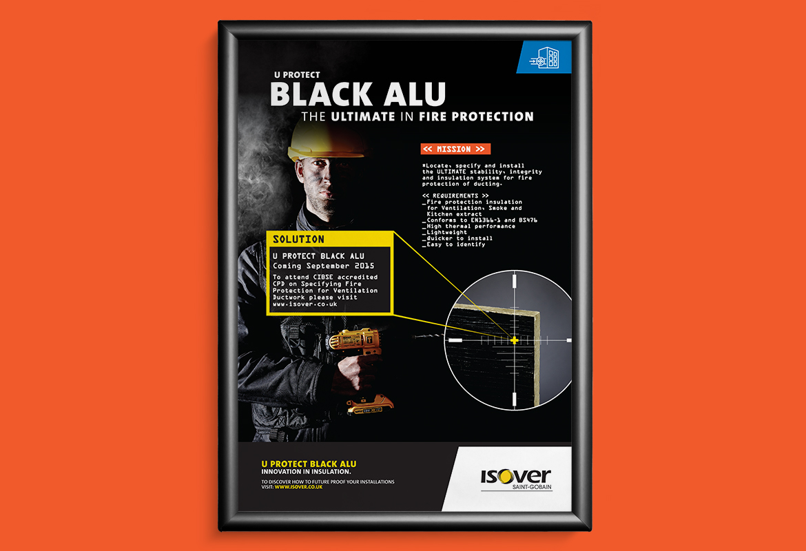 Isover Black Alu Advert